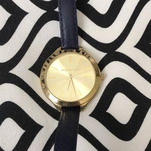 Navy blue Michael Kors watch